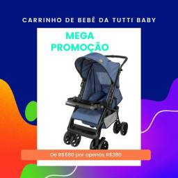 Carrinho de bebê  na promoção da Tutti baby