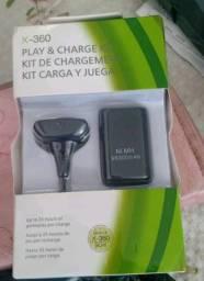 Kit de bateria+cabo de carrega a bateria no controle de Xbox 360