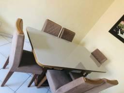 Título do anúncio: Mesa com 6 cadeiras