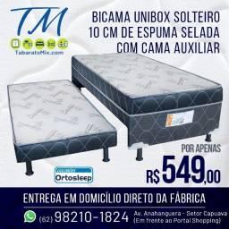 Título do anúncio: Torra Tudo! Unibox Solteiro com Auxiliar 10CM Espuma Selada, 12X Sem Juros!!