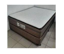 Título do anúncio: Cama Box Casal Probel  188x138cm - Bege/Marrom!