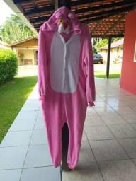 kigurumi pantera cor de rosa