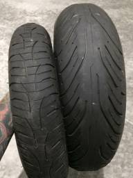 Par de pneus Michelin aro 17