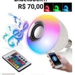 Oferta... Lâmpada LED... Toca musica via Bluetooth