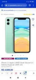 iPhone 11 128GB VERDE NOVO + FONE SEM FIO ORIGINAIS E NOVOS NA CAIXA