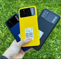 Poco M3 64/4 GB Ram Preto/Azul/Amarelo