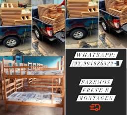 Título do anúncio: Beliche zero de fabrica madeira maciça!!!