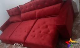 Título do anúncio: Sofá retratil e reclinável Shopia 2.80 em 12 x sem juros