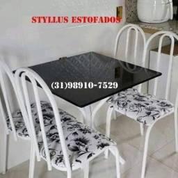 Título do anúncio: Mesa tubular de 4 cadeiras nova