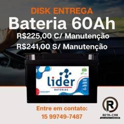 Título do anúncio: Bateria Líder 60ah Disk Entrega-
