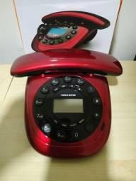 Telefone com Fio Megastar com viva voz novo na caixa entrego whatsapp