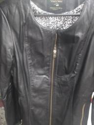 Jaqueta de couro - feminina