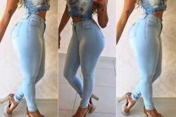 Calças Jeans Feminina Cintura Alta Hot Pants, Vendemos Apenas no Atacado