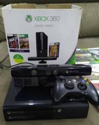 Xbox 360 original 250gb com kinect e jogos