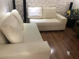 2 sofas de 2 lugares em couro nautico lindoo