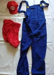 Fantasia Mario adulto, camisa + macacão