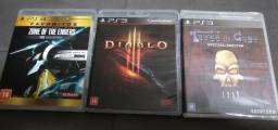 Lote c/ 3 jogos ps3 - Diablo lll / zone of the enders / Tower of guns