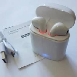Fone De Ouvido I7s Bluetooth Com Box e Microfone