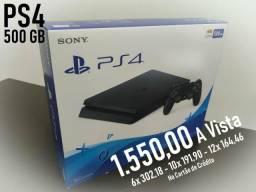 PS4 Novo lacrado slim 500g parcelado no cartão