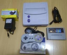 Super Nintendo Original modelo Baby Completo 2 jogos Super Mario World e Top Gear
