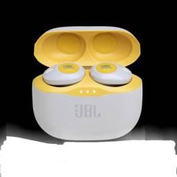 Fone de ouvido sem fio JBL Tune 120TWS - Amarelo<br><br>