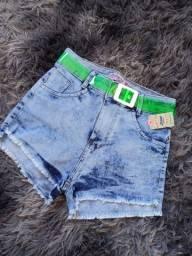 Short jeans com STRECH