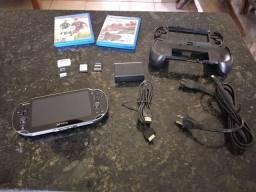 PS Vita desbloqueado + 1.200 jogos mídia digital + acessórios