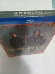 Box BLU RAY supernatural 12 temporada lacrado de fábrica