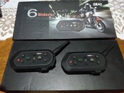 Intercomunicador para moto, conecta 6 motos até 2 km