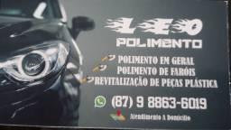 POLIMENTO  EM GERAL REVITALIZAÇÃO E REVITALIZAÇÃO DE PLASTICO