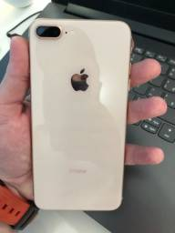 Título do anúncio: iPhone 8 Plus 64GB Rose impecável