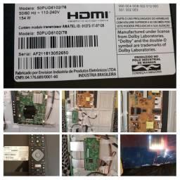 placas, fonte, led e controle tv Philips 50 polegadas