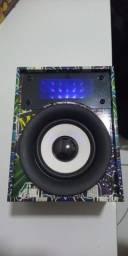Som Bluetooth com antena FM