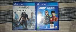 Título do anúncio:  Jogos PS4 fórmula 1 e Assassins Creed Valhalla