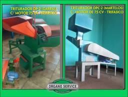 Título do anúncio: 2 Trituradores:  DP2 (garras)  e DPC-2 (martelos)- revisados - com motor de 7,5 CV trif.