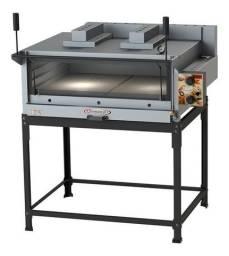 Forno a gás para pizzas e esfihas, profissional, com dois infravermelhos para gratinação