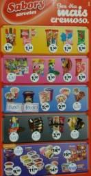 Título do anúncio: Vendo sorvetes e picolés da Sabory