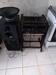 Mesa de som,reverb, amplificador