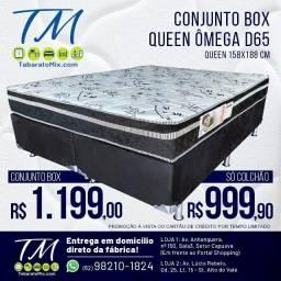 Título do anúncio: Frete Gratuito!! Conjunto Queen Omega Excellence Zoe Espuma D65!! A Pronta Entrega!!