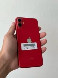 Título do anúncio: iPhone 11 64 gigas RED