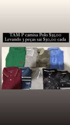 Título do anúncio: Vende-se camisas basica $20,00 e camisas polo $30,00