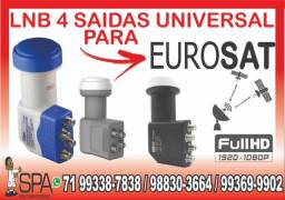 Título do anúncio: Lnb Quádruplo Universal Para Eurosat