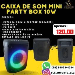 Caixa de som Mini Party Box 10w