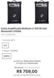 Título do anúncio: Caixa amplificada multiuso Ll 100 - nova!