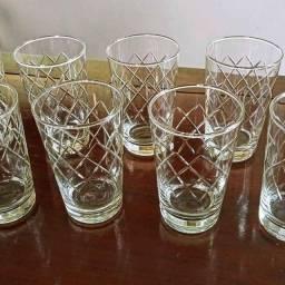 Título do anúncio: conjunto de copos em cristal novos