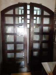 Título do anúncio: Porta janela madeira de lei