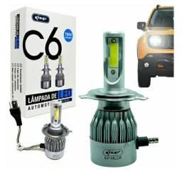 Lâmpada de LED Automotiva KP ? HLC6 7600 Lúmens H4 KNUP