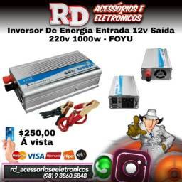 INVERSOR DE ENERGIA ENTRADA 12V SAIDA 220V 1000W