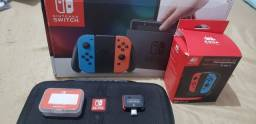 Título do anúncio: Nintendo switch desbloqueado cartao 128 gb