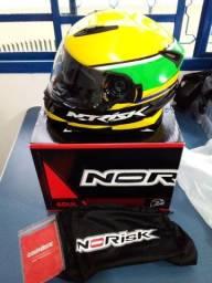 Título do anúncio: Capacete NoRisk Senna tam. 56